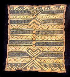Africa | Prestige Panel  from the Kuba people of the Sankuru River region of DR Congo | Raffia palm fiber, pigments | 20th century