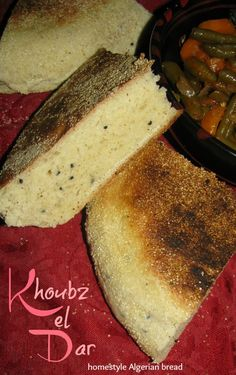 The Teal Tadjine | A Mélange of Cooking and Culture in the Algerian Mediterranean Basin and Beyond: Khoubz el Dar | Algerian homestyle bread with wheat flour and semolina