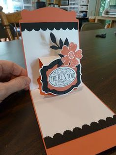 Stampin' Up! Exclusive Pop 'n Cuts dies - love these colors! By Inky Images: Card Class coming in October!