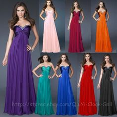 Prom Dresses Evening Gown Party Ball Bridesmaid Bridal Size 6 8 10 12 14 16 18