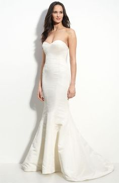 Nicole Miller Faille Trumpet Gown #wedding