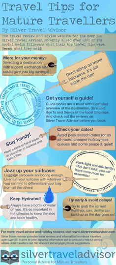 Actually these tips are good for travelers of ALL ages. :)