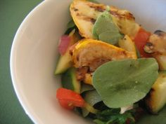 Albion Cooks: Grilled Zucchini Salad with Purslane & Tomato
