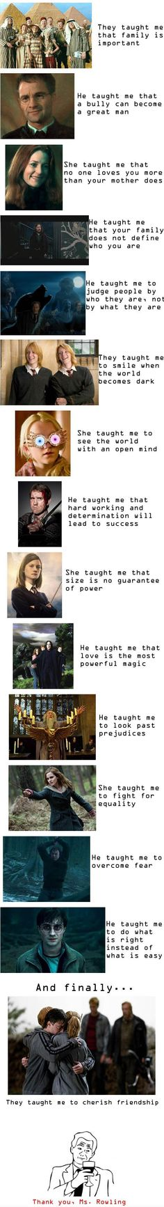 The most beautiful lessons that I learned from my favorite book HARRY POTTER!!!