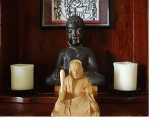 #Buddha and #Nichiren statue in the altar