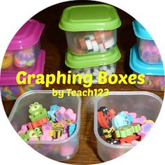 Graphing Boxes are a fun and easy way to add seasonal fun to your math centers. $
