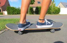 van, skateboard
