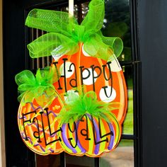 Fall Door Hanger, Pumpkin Door Decoration, Fall Home Decor, Halloween Pumpkin on Etsy, $45.00