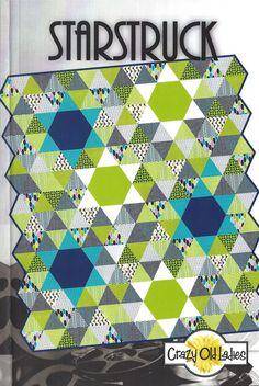 Starstruck Triangles/Hexagon Quilt Pattern  by PinkDoorFabrics, $9.75