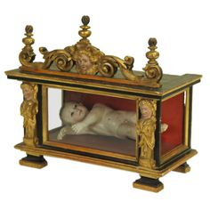 Antique Spanish Reliquary and Baby Jesus