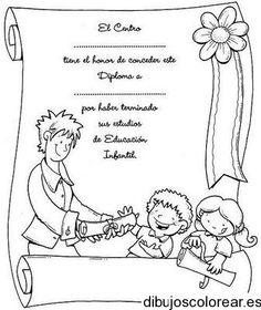 Dibujo de un diploma escolar