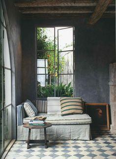 wall colors, interior, design homes, window, floor, cozy nook, tile, rustic chic, hous