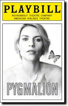 Playbill Cover for Pygmalion at American Airlines Theatre - Opening Night, September 2007