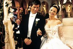 Charles Shaughnessy and Fran Drescher from The Nanny TV Show #wedding