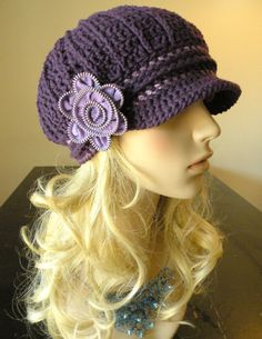 Such an adorable hat! Makes me want to pick up crochet again!! inspiration, pattern, crafti, craft archiv, ador hat, colors, yarn craft, crochet hats, crocheted hats