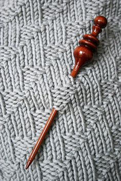 Handcrafted wood shawl / scarf pin for knit and crochet accessories