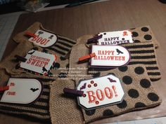 Stampin Up Halloween treats created with the My Paper Pumpkin September kit. #stampinup #paperpumpkin
