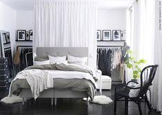bedroom with no closet, closet in bedroom, bedroom closets, bedroom ikea, bedroom no closet, front closet, closet space, closet solutions, no closet solution