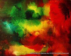"""""""New Hope"""" Oil on Canvas 48"""" x 60"""" x 1½""""  Melissa Ayr"""