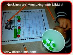 Nonstandard measuring with M&Ms freebie!
