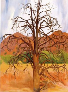 Georgia O'Keeffe, Dead Pinon Tree, 1943, Oil on canvas, 40 x 30 inches, Gift of the Georgia O'Keeffe Foundation, ©Georgia O'Keeffe Museum