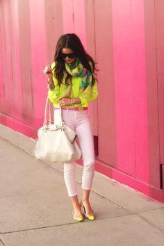 neon + pastels