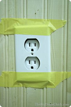 making outlet flush with wall