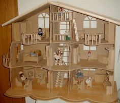 kinder on pinterest wooden dollhouse double bunk and old cabinets. Black Bedroom Furniture Sets. Home Design Ideas