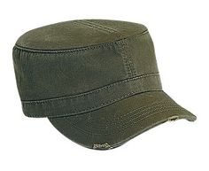 Otto Cap distressed military look. Trendy and cool to promote your business with