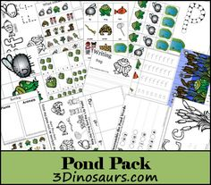 Free Pond Pack from 3 Dinosaurs