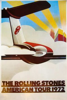 Official 1972 American Tour poster - The Rolling Stones
