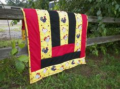 Crazy Chickens Baby Floor Quilt by MinnieMaes on Etsy, $45.00
