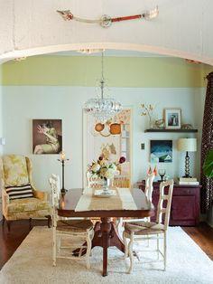 The colors! Molly & Robert Josiah Bingaman's home on Design Sponge