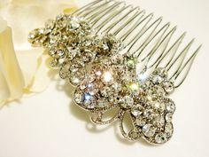 ARICIA nostalgic Butterfly Nature Vintage Inspired Swarovski Wedding Hair Comb