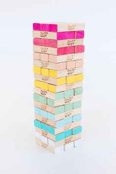 DIY Ombre Jenga-make feelings Jenga