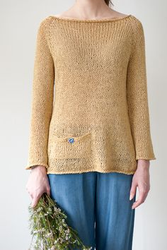 daicey by melissa labarre / quince & co kestrel