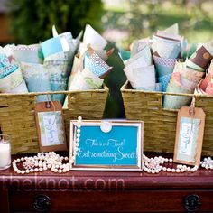 Vintage Wedding Candy Bar-candy bar for favors and candy cone colorful containers to fill