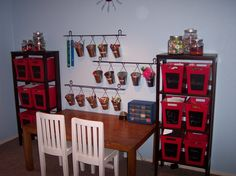 organized craft space for kids  www.perfectlyplaced.org