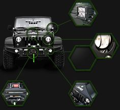 Jeep wrangler unlimited various accessories
