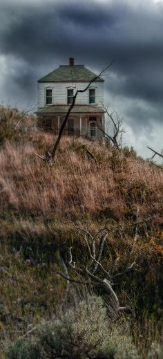 Old Farm House On Stormy Day