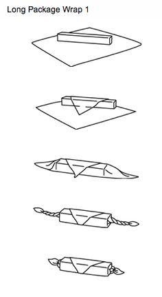furoshiki: cloth wrapping a longer gift.