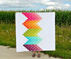 Ombre Love | A Finished Quilt by canoeridgecreations, via Flickr