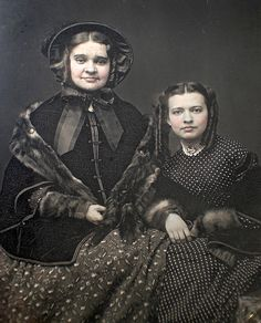 Sisters Harriet Cooper Wetmore and Cornelia Brower Wetmore of New London, Ct