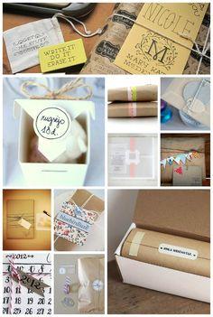 Fun packaging via etsy sellers. #gift #wrapping #presents #packaging #seals #branding