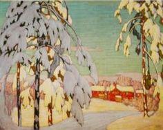 Winter Landscape with Pink House - Lawren Harris