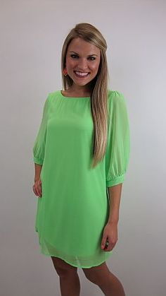 ITS BACK!! We all know NEONS are HUGE this year! But, if you are like me, you aren't quite sure how to wear this trend in a tasteful way. Shift dress to the rescue!! $44