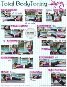 Total Body Toning   Pilates Bootcamp Printable - take this with you to the gym! Perfect!!#Repin By:Pinterest++ for iPad#