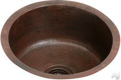 """Elkay The Mystic Collection ECU16FBACH  18"""" Undermount Single Bowl Copper Bar Sink with 16-Gauge, 8"""" Bowl Depth, 3-1/2"""" Drain and Antique Hammered Copper Finish"""