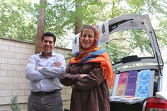 Tehran's taxi library, run by the husband-and-wife team of Mehdi Yazdany and Sarvenaz Heraner