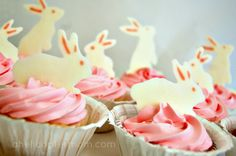 make your own candy bunny cupcake decorations